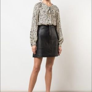 Vintage Real Leather Skirt